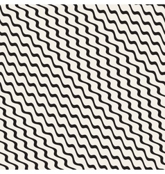 Wavy Ripple Stripes Seamless Black and vector image