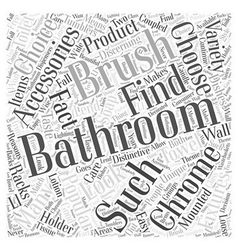 Brushed chrome bathroom accessories word cloud vector