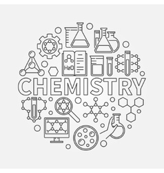 Chemistry line round vector