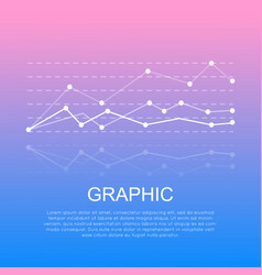 Graphic with curve lines isolated with information vector