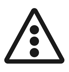 traffic signal ahead sign line icon vector image