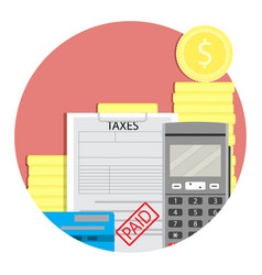 Income taxes paid vector