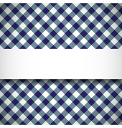 Tilted gingham plaid pattern vector