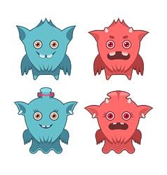 Monster emotion set vector
