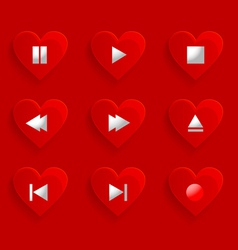 Buttons control heart vector