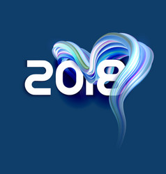 2018 new year colorful abstract background vector image