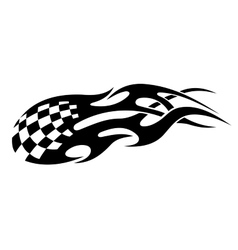 Stylized tribal racing tattoo vector image