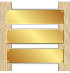 Three plaques vector