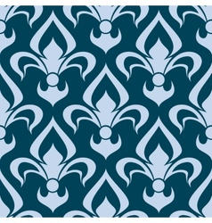 Arabesque seamless pattern with a fleur de lys vector