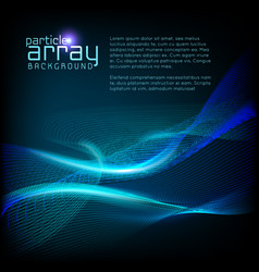 3d wave particle array background vector image vector image