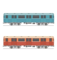 Decorative underground rapid train design vector