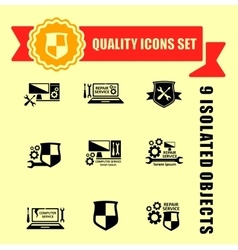 Quality computer technology icons set vector