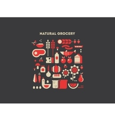 Natural grocery food vector