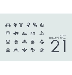 Set of creative team icons vector