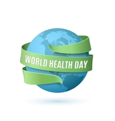 World health day background vector