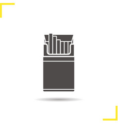 Open cigarette pack icon vector
