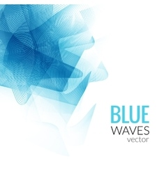 Abstract Blue Line business wave white vector image
