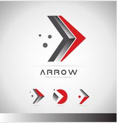 Arrow forward concept logo icon design vector