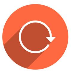 Arrow sign reset icon circle button vector