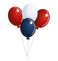 balloons air party independence day vector image vector image