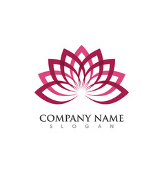 beauty lotus flowers design logo template icon vector image vector image