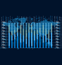 blue graphic equalizer display vector image vector image