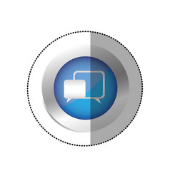 blue symbol chat bubbles icon vector image vector image