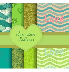 Colorful seamless patterns set vector