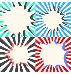 Comic book bubble effects set vector
