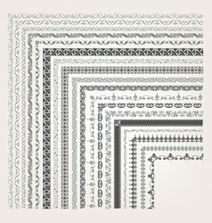 decorative seamless border vector image vector image
