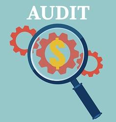 Financial examiner concept icon vector image