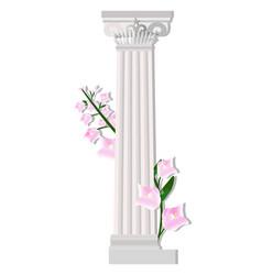 Greek corinthic columns order vintage design vector