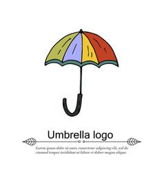 Handdrawn doodle logo vector