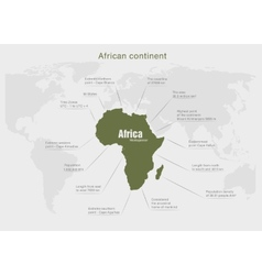 Infographics continent africa green vector