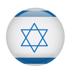 Isolated flag of israel vector