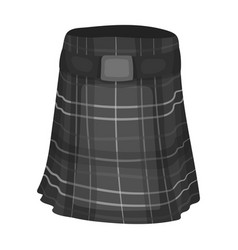 Kilt icon in monochrome style isolated on white vector