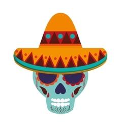 Mexican sugar skull icon vector