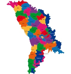 Moldova map vector image vector image