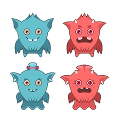 Monster emotion set vector