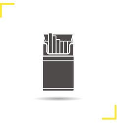 Open cigarette pack icon vector