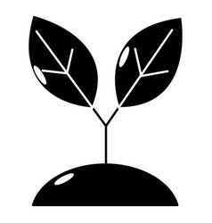plant sprout icon simple style vector image