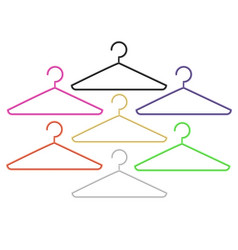 set of colorful hangersund vector image