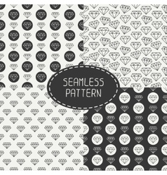 set seamless retro patterns with vintage hipster vector image vector image