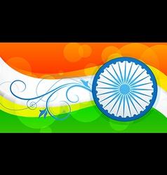 Stylish flag of india vector