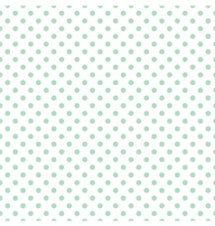 Tile mint dots pattern on white background vector