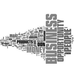 What is a business opportunity text word cloud vector