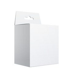 white package carton box with hang slot vector image vector image