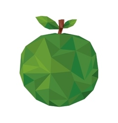 Abstract apple fruit icon vector