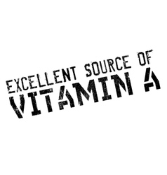 Excellent source of vitamin a stamp vector