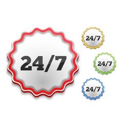 24x7 Icon vector image